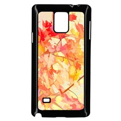 Monotype Art Pattern Leaves Colored Autumn Samsung Galaxy Note 4 Case (black)