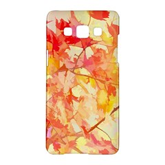Monotype Art Pattern Leaves Colored Autumn Samsung Galaxy A5 Hardshell Case