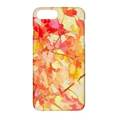 Monotype Art Pattern Leaves Colored Autumn Apple Iphone 7 Plus Hardshell Case