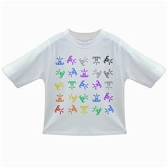 Rainbow Clown Pattern Infant/toddler T Shirts