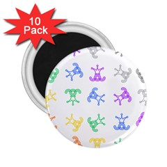 Rainbow Clown Pattern 2.25  Magnets (10 pack)