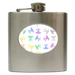 Rainbow Clown Pattern Hip Flask (6 Oz)