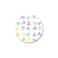 Rainbow Clown Pattern Golf Ball Marker (4 Pack)