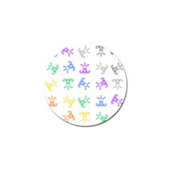 Rainbow Clown Pattern Golf Ball Marker (10 Pack)