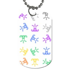Rainbow Clown Pattern Dog Tag (two Sides)