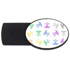 Rainbow Clown Pattern Usb Flash Drive Oval (4 Gb)