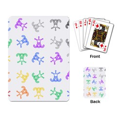 Rainbow Clown Pattern Playing Card