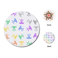 Rainbow Clown Pattern Playing Cards (round)