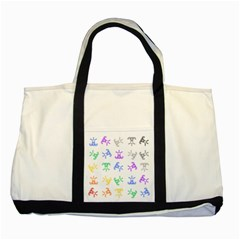 Rainbow Clown Pattern Two Tone Tote Bag