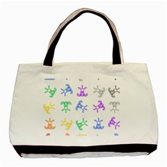 Rainbow Clown Pattern Basic Tote Bag (two Sides)