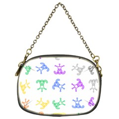 Rainbow Clown Pattern Chain Purses (two Sides)