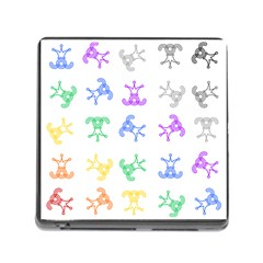Rainbow Clown Pattern Memory Card Reader (square)