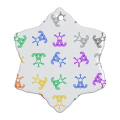Rainbow Clown Pattern Ornament (snowflake)