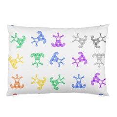 Rainbow Clown Pattern Pillow Case (two Sides)