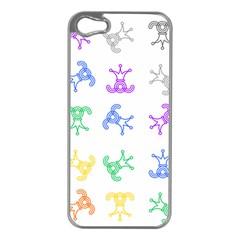 Rainbow Clown Pattern Apple Iphone 5 Case (silver)