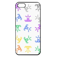 Rainbow Clown Pattern Apple Iphone 5 Seamless Case (black)