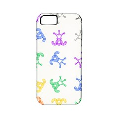 Rainbow Clown Pattern Apple Iphone 5 Classic Hardshell Case (pc+silicone)
