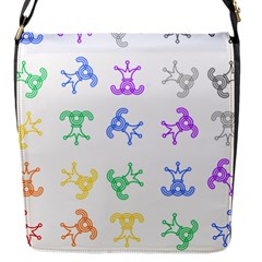 Rainbow Clown Pattern Flap Messenger Bag (s)