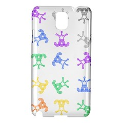Rainbow Clown Pattern Samsung Galaxy Note 3 N9005 Hardshell Case