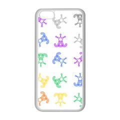 Rainbow Clown Pattern Apple Iphone 5c Seamless Case (white)