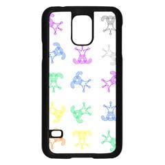 Rainbow Clown Pattern Samsung Galaxy S5 Case (black)