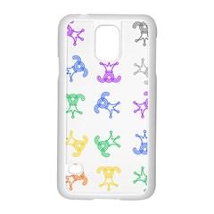 Rainbow Clown Pattern Samsung Galaxy S5 Case (white)