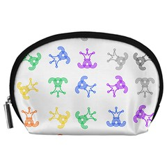 Rainbow Clown Pattern Accessory Pouches (large)
