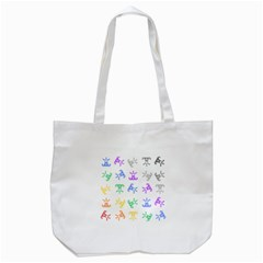 Rainbow Clown Pattern Tote Bag (white)
