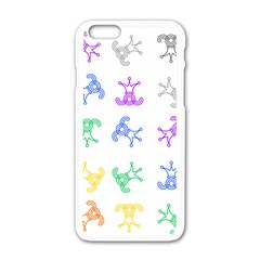 Rainbow Clown Pattern Apple Iphone 6/6s White Enamel Case