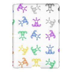 Rainbow Clown Pattern Samsung Galaxy Tab S (10.5 ) Hardshell Case
