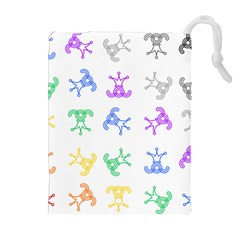 Rainbow Clown Pattern Drawstring Pouches (extra Large)