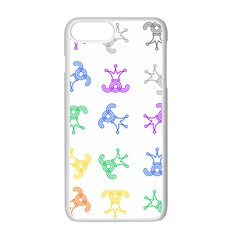 Rainbow Clown Pattern Apple Iphone 7 Plus White Seamless Case