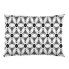 Black White Flower Pillow Case