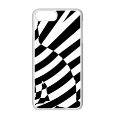 Casino Cat Ready For Scratching Black Apple Iphone 7 Plus White Seamless Case