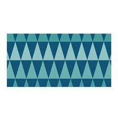 Blues Long Triangle Geometric Tribal Background Satin Wrap