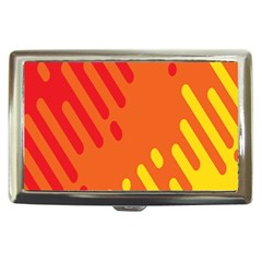 Color Minimalism Red Yellow Cigarette Money Cases
