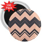 Chevron Ideas Gray Colors Combination 3  Magnets (100 pack) Front