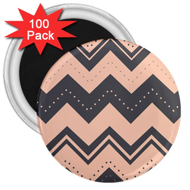 Chevron Ideas Gray Colors Combination 3  Magnets (100 pack)