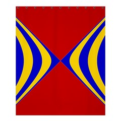 Concentric Hyperbolic Red Yellow Blue Shower Curtain 60  X 72  (medium)