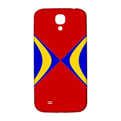 Concentric Hyperbolic Red Yellow Blue Samsung Galaxy S4 I9500/i9505  Hardshell Back Case