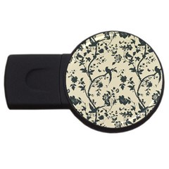 Cottonwood White Leaf Wallpaper Bird Usb Flash Drive Round (2 Gb)