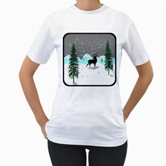 Rocky Mountain High Colorado Women s T Shirt (white) (two Sided)