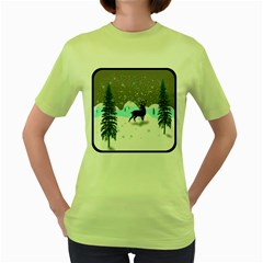 Rocky Mountain High Colorado Women s Green T Shirt