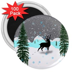 Rocky Mountain High Colorado 3  Magnets (100 Pack)