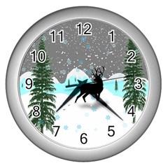 Rocky Mountain High Colorado Wall Clocks (silver)