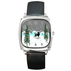Rocky Mountain High Colorado Square Metal Watch