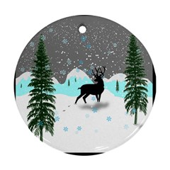 Rocky Mountain High Colorado Round Ornament (Two Sides)