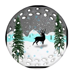 Rocky Mountain High Colorado Ornament (round Filigree)