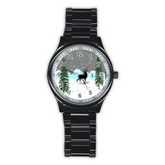 Rocky Mountain High Colorado Stainless Steel Round Watch