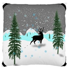 Rocky Mountain High Colorado Large Flano Cushion Case (one Side)